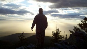 Our sunrise view in the Sangre De Cristo range during 2013 archery elk season.